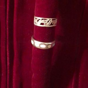 Jewelry - (2) Sterling Silver Rings Bands sz 7 & 8